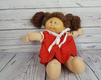 Vintage 80s Cabbage Patch Kids Doll Girl Soft Sculptured Toy Collectible Nostalgia Coleco Industries Plush Toy Plushie Stuffed toy