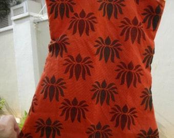 Sibling Matching Set - Toddler Girls Lined Ethnic Indian Cotton Lined Sleeveless Dress - Kishore 2872