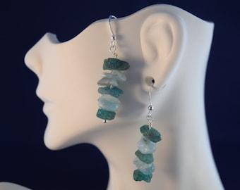 Aquamarine & Apatite Sterling Silver Earrings