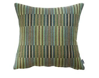 Vibrant Emerald Throw Pillow, Soft Wool Cushion   Livingroom Decor   Unique Gift