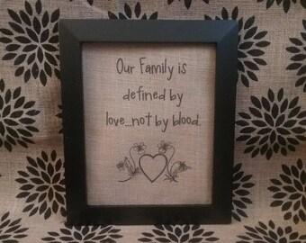Blended Family Burlap Print