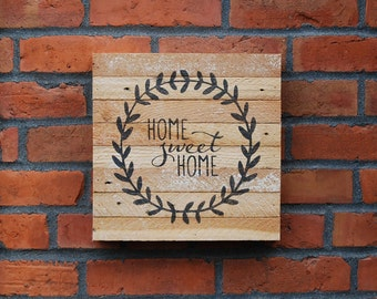 Home sweet home wood sign. Housewarming gift. Rustic home sign. Home decor.