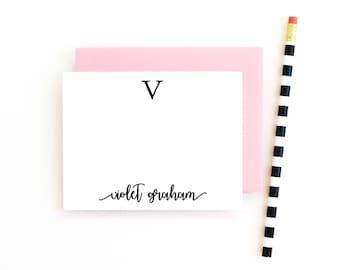 Personalisierte monogrammiert stationäre persönlichem Briefpapier Set kundenspezifische Monogramm stationär für Mädchen-danke-Hinweis-Karten-Brautjungfern-Geschenk
