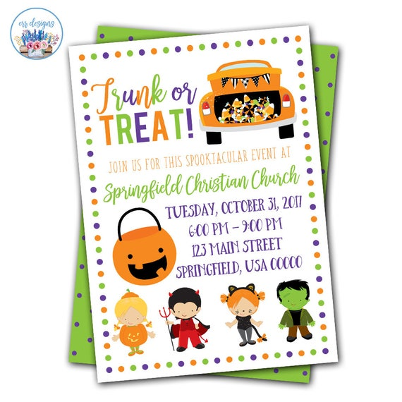 Etsy seller ERRdesigns Trunk or Treat flyer on white background