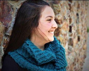 Handmade turquoise infinity scarf