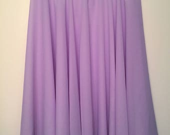 Knee Length Chiffon Ballet Skirt in Lilac (Pull Up)