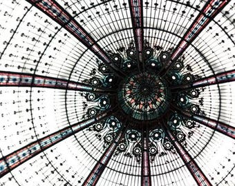 Galeries Lafayette, Paris Photography, Large Wall Art, Abstract, Neutral, Paris Print