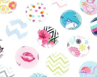 Reusable Makeup Remover Pads | Face Scrubbies | Facial Rounds | Makeup Wipes | Set of 20 | Flannel | Random Assortment