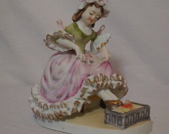 Lefton China Little Polly Flinders KW 1472