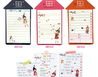 House Checklist Post IT Notes Sticky Memo