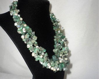 Magnificent Double Strand Emerald Necklace*******