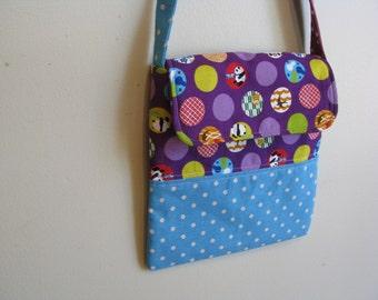sale - messenger bag for girls, tweens or teens black and white