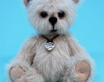 "Miniature teddy bear, Handmade, Collectible, OOAK, Solo - 4"" bear"