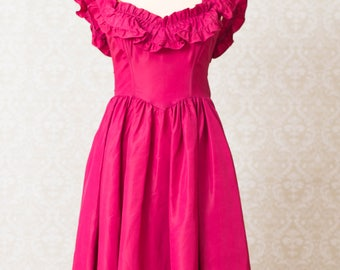 Jessica McClintock Gunne Sax Magenta Dress