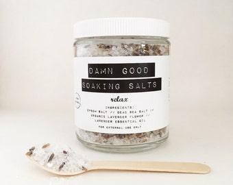 Damn Good Soaking Salts // Relax -- 100% natural • detoxification • mineral-rich • bath salts