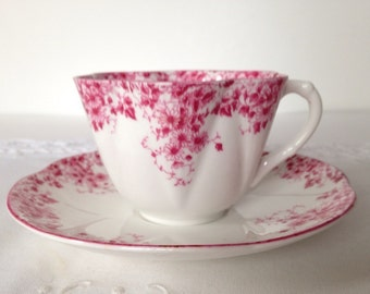 Shelley Dainty Pink Tea Cup & Saucer