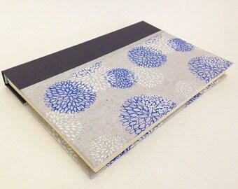 Handmade Journal with Chrysanthemum Pattern
