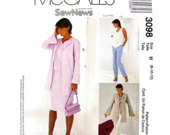 Jacket Top Pants Skirt Pattern McCalls 3098 Womens Wardrobe Size 8 10 12 Sewing Pattern