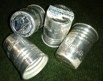 McCallum's Scots Whiskey Metal Shotglass Tops Set of 4