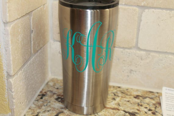 monogram, initials, monograms, decals, decals for women, decals car, wall decor, cup decal, yeti, baby, wedding, gift, personalized, custom