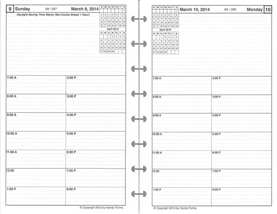 one page per day planner