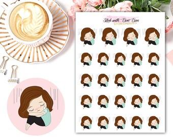 Amelie kawaii SAD DAY planner stickers || Erin Condren Life Planner, Kikki K, Plum Paper Planner