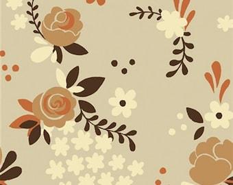 Sale | Birch organic cotton fabric - Fort Firefly Rose Garden - 1/2 YD