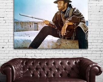 09 Clint Eastwood Western Cowboy Print