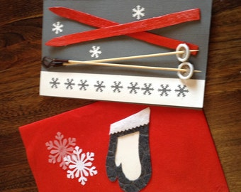 Christmas card 100% recycled materials