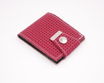 Red VW Basket Weave Ultra-thin Wallet