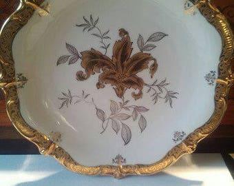 "Plate with gold trim, ""Schumann""."