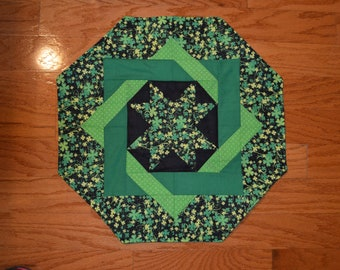 Handmade Quilted Table Runner / Topper  St. Patrick's Day