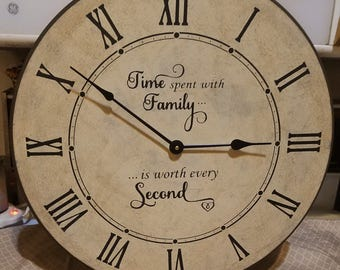 18 Inch Family Heirloom Clock with Roman Numerals