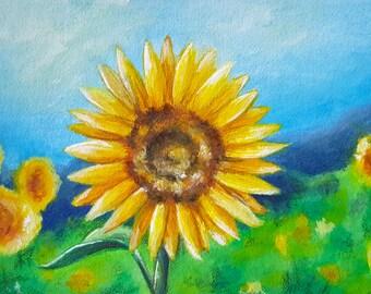 Sunflower Painting - ORIGINAL