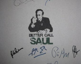 Better Call Saul Signed TV Script Screenplay X11 Autograph Bob Odenkirk Jonathan Banks Rhea Seehorn Peter Gould Patrick Fabian  McKean