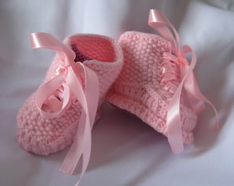 Hand knit Doc Martin Boots style, PUNK, GOTH Baby booties
