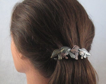 MUSHROOMS 80mm French Barrette- Hair Accessories- Hair Barrette- Hair Clip- French Clips