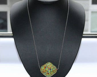 African handicraft, Kroboperle, Tradebead, xxxl beads, biconische form, 44 mm