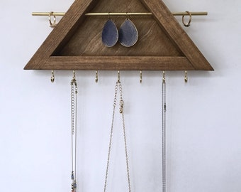 Small All in One Jewelry Organizer / Earring-Ring-Necklace Organizer / Earring Holder / Bracelet Display