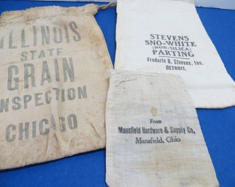 Vintage Hardware Store Sacks from Chicago, Detroit, and Ohio