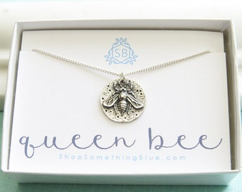 Honey Bee Medallion • Queen Bee Necklace •  Bee Lover • Nature Lover • Inspiring • Honey Bee Jewelry • Gift For A Queen • Best Friend Gift