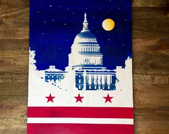 The Capitol at Night/DC Flag