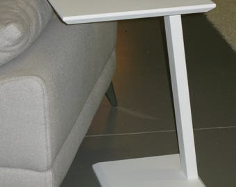 Square Total white low table modern design lounge sofa door PC/tablet