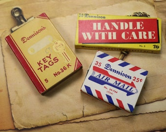 1 Vintage Dennison Stationery Box with Contents