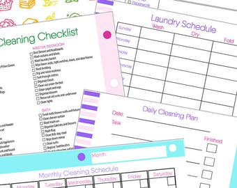 Cleaning Planner - Spring Cleaning Planner - Planning Pages - Planner Pages - House Cleaning Schedule - Cleaning Checklist