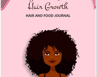 Natural Hair Growth Challenge,  Natural Hair Journal, Food Journal, Natural Hair Care, Black Hair Care, Natural Hair Diary, Food Diary
