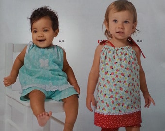 Easy Baby Top Panties and Pants Pattern Simplicity A1188 Baby Sizes XXS to Large Newborn to 18months