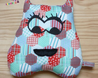 Plush cushion fantasy Monster geometric girl