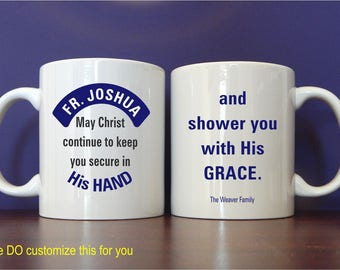 Catholic Priest Mug Gift - Gifts for Priest - Fathers Day Gift - Priest Appreciation - Father's Day Gift, MST003