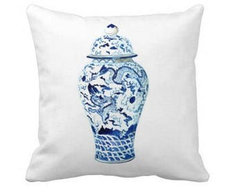 GINGER JAR No. 7 PILLOW 4 sizes - 3 colors -  (indoor and outdoor fabrics)